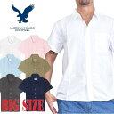 大きいサイズ メンズ アメリカンイーグル AMERICAN EAGLE ショートスリーブ オックスフォードシャツ 半袖シャツ XL XXL XXXL AE-039-R