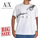 アルマーニエクスチェンジ A/X ARMANI EXCHANGE ロゴプリント クルーネック 半袖Tシャツ REGULAR FIT 白 XL XXL 大きいサイズ メンズ [M便 1/1]