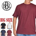 BROWN BAG LIQUOR ブラウンバッグリカー 無地 ヘンリーネック 半袖Tシャツ 黒 白 ネイビー XXL XXXL 大きいサイズ メンズ M便 1/1