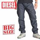 ショッピングDIESEL ディーゼル Diesel デニムパンツ ジーンズ レギュラー スリム テーパード BELTHER WASH 0088Z 38 40インチ 大きいサイズ メンズ あす楽