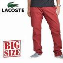 大きいサイズ メンズ ラコステ LACOSTE カラーパンツ コットンパンツ チノパン 38インチ XXXL