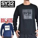 SY32 by SWEET YEARS スウィートイヤーズ ロンT 長袖Tシャツ ホログラム グラフィック XXL [M便 1/1] 大きいサイズ メンズ
