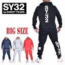 DEFF×SY32 by SWEET YEARS スウィートイヤーズ スウェット フード プルオーバー パーカー セットアップ ジャージ上下 XXL XXXL XXXXL 大きいサイズ メンズ あす楽