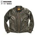 バイク ハーレー シングルライダース 白 黒 シンプル ソフト レザー 定番 スタンダード 8SJ-1 DEGNER デグナー