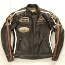 シングルライダース 本革 シングルライダース バイクジャケット シングルライダース レディース シングルライダース バイク ライダース レザー 本革 牛革 ヴィンテージ DEGNER デグナー DG13WJ-1(ブラック) 送料無料