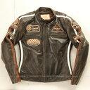 シングルライダース 本革 シングルライダース バイクジャケット シングルライダース レディース シングルライダース バイク ライダース レザー 本革 牛革 ヴィンテージ DEGNER デグナー DG13WJ-1(ブラウン) 送料無料