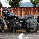 11月24日からスマホエントリーでポイント10倍! バイク ハーレー アメリカン サドルバッグ サイドバッグ 本革 レザー バイカーズ 牛革 堅牢 鉄馬 可変容量 DEGNER デグナー SB-64IN(ブラック) 送料無料
