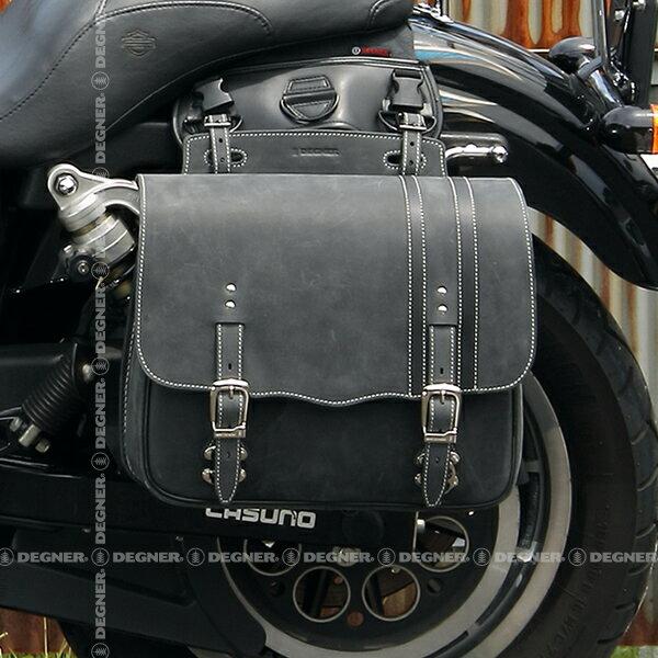 バイク サイドバッグ 送料無料 ハーレー サイドバック サイドバッグ レザー バイク 本革 ヴィンテージ スタイル レザーサドルバッグ ブラック SB-59IN DEGNER デグナー