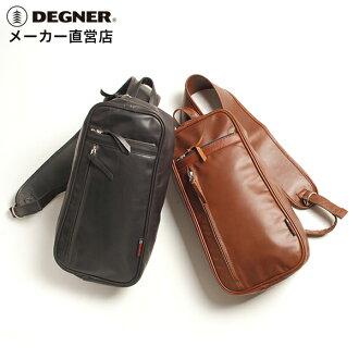 DEGNER / degner motorcycle / leather / oiled / steamed with oil and leather shoulder bag / shoulder bag 5S-W4T /DEGNER / degner /