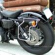 ハーレー バイク スポーツスター 専用 04年〜16年 スライドレール サドルバッグサポート 一体型 取付 簡単 左側 DEGNER デグナー SBS-1(クローム)