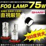 ポイント10倍!【即納】最新型】SHARP製 75W フォグランプ LED 360度発光汎用 H8 H11 H16 HB4 HB3 H7 PSX26W (プリウス/アクア) 純正フォグ 昼光色 広角 アルミヒートシング /プロジェクターレンズ 12v対応フォグ用 全車種対応 シャープ LEDバルブ ホワイト 100W