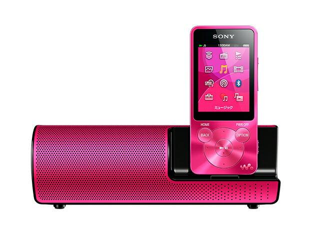 【お取り寄せ】ソニー(SONY) Sシリーズ メモリータイプ スピーカー付 (8GB) NW-S14K(P)ピンク