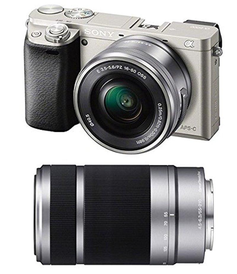 (お取り寄せ:納期目安2週間〜)SONY ミラーレス一眼 α6000 ダブルズームレンズキット E PZ 16-50mm F3.5-5.6 OSS + E 55-210mm F4.5-6.3 OSS付属 シルバー ILCE-6000Y-S