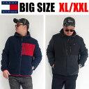 ショッピングトミーヒルフィガー TOMMY HILFIGER メンズ 大きいサイズ アウター ブランド フリース XL XXL 2L 3L ジャケット コート ブルゾン USAモデル 直輸入 アメカジ ストリート ブラック マルチカラー トリコロール 大人 151AF238