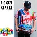 送料無料 メンズ 大きいサイズ ブランド 半袖シャツ XL XXL 2L 3L 総柄 総柄シャツ 柄シャツ DESIGUAL デシグアル インポート 海外ブランド 国内正規 【19WMCW45 3026】