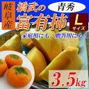 【送料無料】 岐阜産 富有柿 青秀 約3.5kg L(14玉入)本場の完熟甘柿!生柿