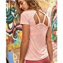 Tシャツ トップス レディース インポート ヨガ バックデザイン ピンク かわいい ヨガ トレーニング トップス 海外 ファッション 直輸入..