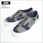 VANS MENS バンズ メンズ Authentic【VN0A38EMMOY/VN-0A38EMMOY】(Denim Patchwork) Navy/True White オーセンティック/メンズスニーカー・靴2017SP