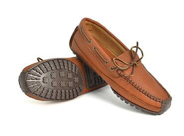 【即納可能】MINNETONKA/ミネトンカメンズMOOSEHIDEWEEKENDMOCムースハイドウィークエンドモック752/CHOCOLATEMOOSE758/CARMELMOOSEメンズ/靴