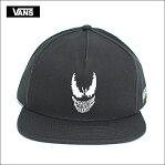VANS APPAREL FA'18バンズ アパレルVANS X MARVEL SNAPBACKバンズ マーベル スナップバック BLACKメンズ キャップ 帽子