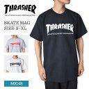 【メール便】THRASHERスラッシャー【SKATE MAG】(3色) Black/Grey/Whiteスケートマグメンズ 半袖 Tシャツ