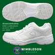 【送料無料】【あす楽】WIMBLEDON ウィンブルドン スニーカー メンズ WM4000 オールコート対応 軽量 4E テニス 部活動 作業履き 白スニーカー