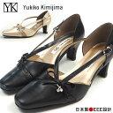 パンプス レディース Yukiko Kimijima ユキコキミジマ 7449 リボンデザインパンプス 本革 日本製 3E