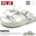 EDWIN エドウィン コンフォートサンダル EW9001 メンズ フットベットサンダル 水濡れ