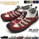 【送料無料】VANSPIRIT ヴァンスピリット カジュアルモックアクアシューズ メンズ 全4色 VR-2170 ウォーキング スポーツスニーカー ムレ防止 軽量