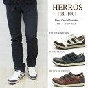 【送料無料】HERROS ハーロス カジュアルスニーカー メンズ 全3色 HR-1001 チェック柄 タウ