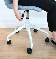 デスクチェアーデニム地風ブルーフレンチフェミニンキャスターおしゃれかわいいコンパクトチェアオフィスチェアパソコンチェアワークチェア椅子昇降式