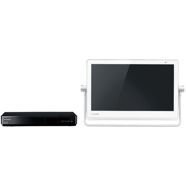 パナソニック ポータブルテレビ HDDレコーダー(500GB)付防水デジタルデレビ プライベート・ビエラ 15v型 ホワイト UN-15TD7-W