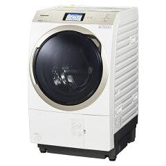 パナソニック ドラム式洗濯乾燥機 洗濯機 11.0kg 温水泡洗浄W・ナノイーX搭載の最上位モデル【左開き】NA-VX900AL-W クリスタルホワイト