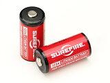 【メール便送料無料】SUREFIRE(シュアファイア) SF123A-2SET 純正3Vリチウム電池2本セット CR123A【箱無しバルク品】