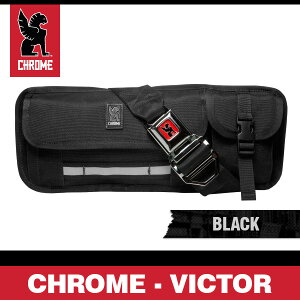 ���?��ӥ������֥�å�/����С��Хå���桼�ƥ���ƥ����Хå�CHROMEVictorBlack/SilverBuckle