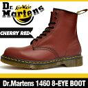ドクターマーチン 1460 8アイ (8ホール) ブーツ チェリーレッド 定番の赤 本革 (レザー) レースアップ (編み上げ) シューズ Dr.Martens 8EYE (8HOLE) BOOT CHERRY RED エアクッションソール採用 マーチンのシンプルな軽量 メンズ ショートブーツ 安心の海外正規品 送料無料