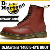 ドクターマーチン 1460 8アイ (8ホール) ブーツ チェリーレッド 定番の赤 本革 (レザー) レースアップ (編み上げ) シューズ Dr.Martens 8EYE (8HO