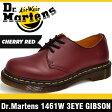 ドクターマーチン (Dr. Martens)ギブソン 3ホール シューズ チェリーレッド レディース R11837600 1461 3 Hole Shoes