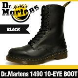 【ドクターマーチンのブーツ全品・】ドクターマーチン 10アイ ブーツ オリジナル 1490 ブラック スムース 10ホール Dr.Martens 10EYE Boot Originals 1490