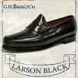 ジーエイチバス ラーソン ブラック Dワイズ/EEEワイズ ローファー G.H.BASS LARSON