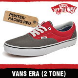 �Х� ���� (2�ȡ���) ���졼/�졼���� ��å� 18FI9I VANS ERA (2TONE) PEWTER/RACING RED