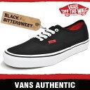 バンズ スニーカー メンズ オーセンティック (ポップ) ブラック/ビタースイート VANS AUTHENTIC (POP) BLACK/BITTERSWEET 4MKIU9