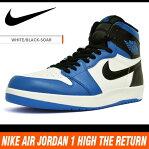 ナイキ エアジョーダン1 ハイ ザ リターン ホワイト/ブラック/ブルー 768861-106 NIKE AIR JORDAN 1 1.5 HIGH THE RETURN WHITE/BLACK/BLUE