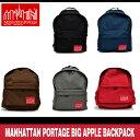 マンハッタンポーテージ ビッグアップル バックパック ブラック/ダークブラウン/グレー/ネイビー/レッド Manhattan Portage Big Apple Backpack