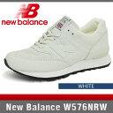 ニューバランス スニーカー W576NRW ホワイト Bワイズ New Balance WHITE MADE IN ENGLAND