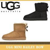 【海外正規品】アグ ブーツ レディース ミニ ベイリー ボウ UGG MINI BAILEY BOW 1005062