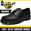 ドクターマーチン ブーツ メンズ レディース 1461 3アイ (3ホール) ギブソン モノ ブラック Dr.Martens 3EYE (3HOLE) GIBSON MONO BLACK 14345001