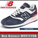 ニューバランス スニーカー メンズ M997CYON ネイビー/レッド Dワイズ New Balance NAVY/RED MADE IN USA
