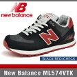 ニューバランス スニーカー レディース ML574VTK ブラック/レッド/チェック Dワイズ New Balance BLACK/RED/CHECK