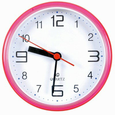 Waterproof bathroom clock (pink / suction cup included)
